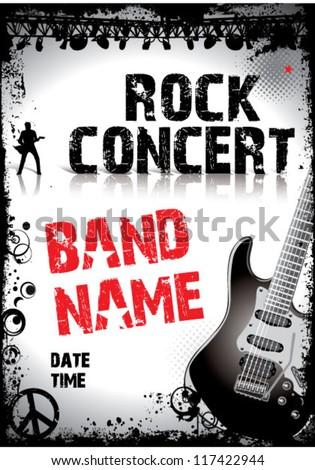 rock concert poster ez canvas