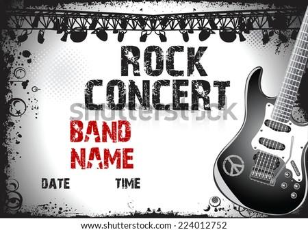 Как сделать плакат на концерт