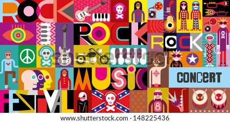 rock concert poster musical