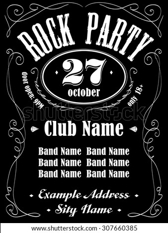 rock event poster or flyer
