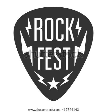 rock fest logo band badge