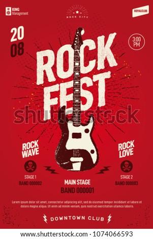 rock festival event poster