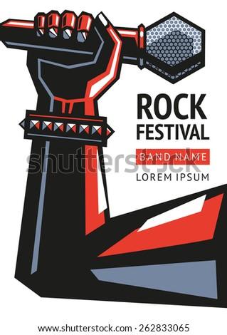 rock festival illustration of