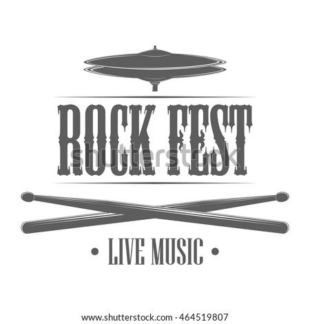 rock festival logo template