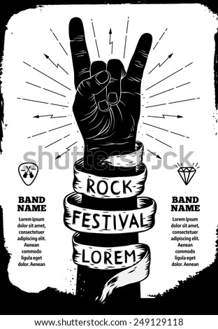 rock festival poster rock and
