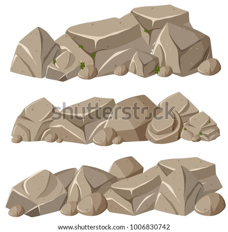 rock formations in three