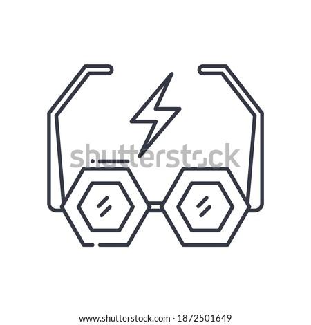 rock glasses icon  linear