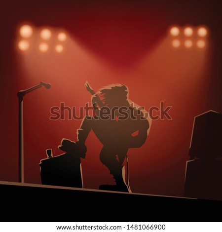 rock guitarist on the stage