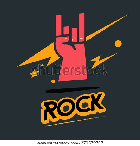 rock hand symbol with