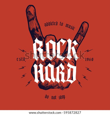 rock hard hand print with