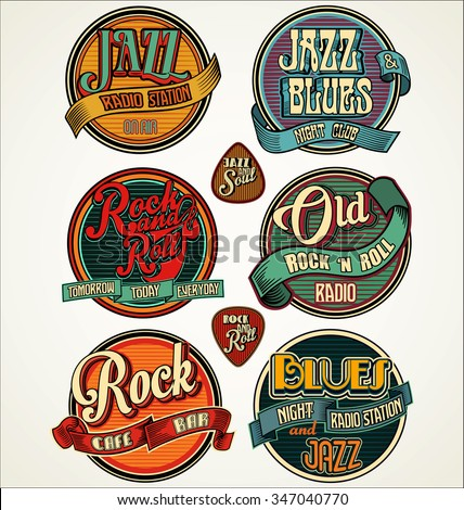 rock  jazz and blues retro