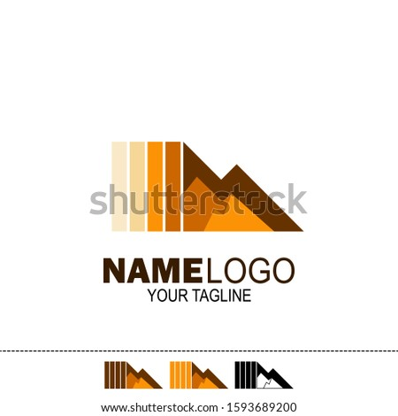 rock mountain logo. rock hill logo. can be used for mining company logos, oil drilling companies, and others. vector