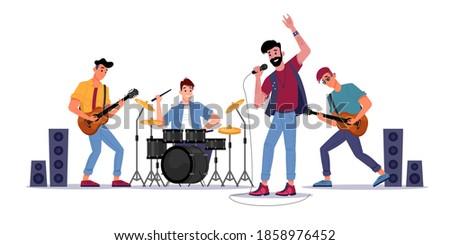 rock music band  musicians