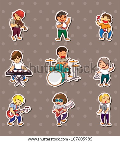 rock music band stickers