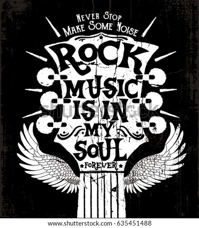 rock music concept print design