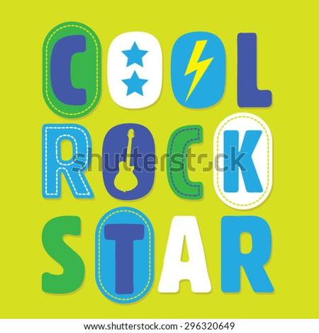 rock music cool kids typography