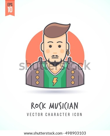 rock music fan illustration
