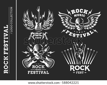 rock music festival logo