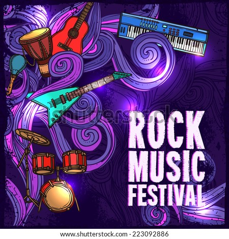 rock music festival poster with