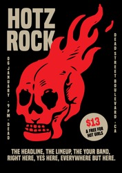 Rock Music Gig Poster Flyer Template
