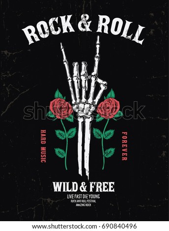 rock music graphic design with