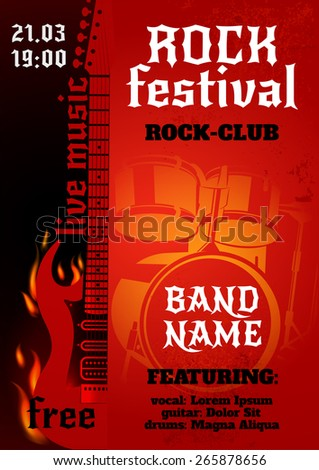 rock music group concert or