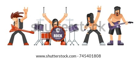 rock music or rockers band