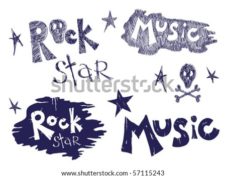 Rock music set