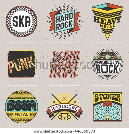 rock music styles genres color