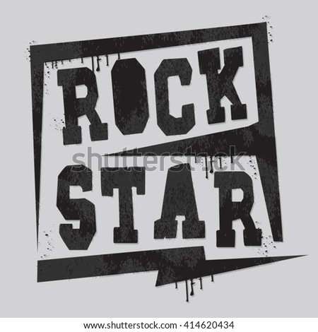 rock music typography  t shirt