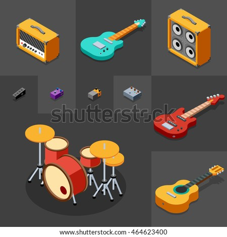 rock musical instruments icons