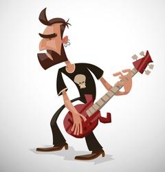 Rock musician, vector