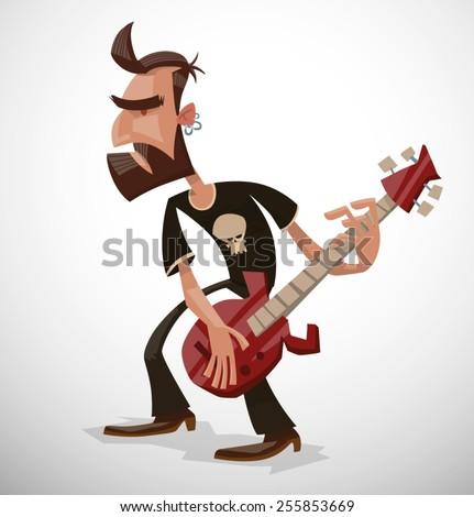 rock musician  vector