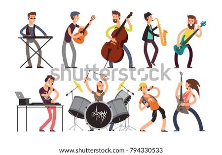 rock n roll music band vector