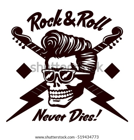 rock'n'roll never dies  skull