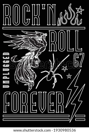 rock'n roll poster design with