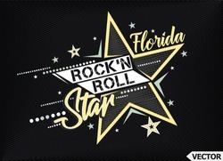 Rock'n Roll Star. T-shirt slogan print poster vector illustration