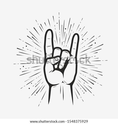 rock on gesture symbol heavy