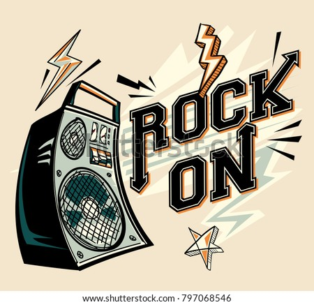 Rock on - music design with loudspeaker