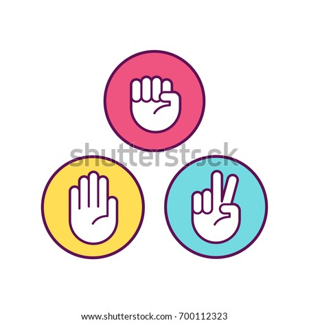 rock paper scissors icons