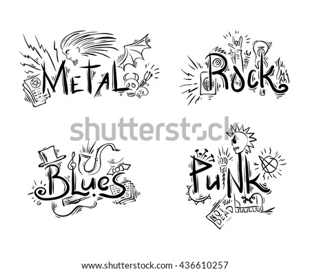 rock  punk  blues and metal