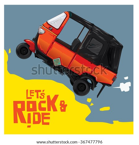 rock  ride and race the car