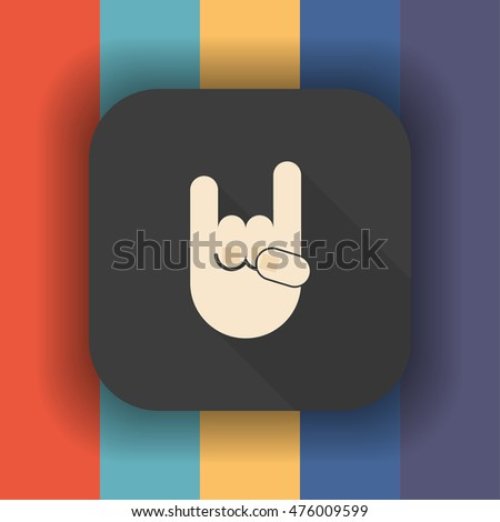 rock sign icon  rock sign icon