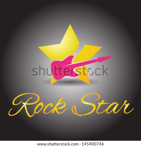 Rock Star Icon Vector Illustrator