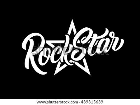 rock star lettering print