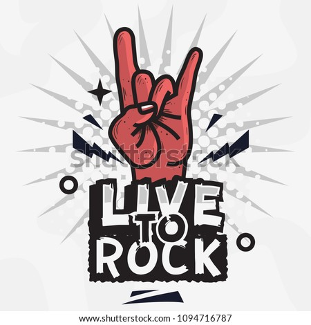 rock star live to rock vector
