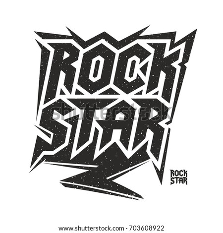Rock star music culture lettering Illustration vector design