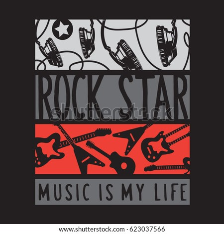 rock star music guitar