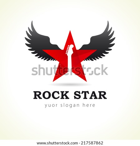 rock star or band fly logo