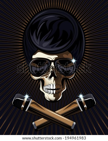 rock star skull with a macabre